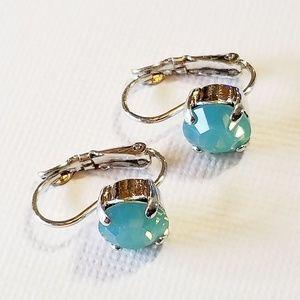Sabika Small Drop Earrings Pacific Opal Swarovski